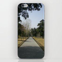A quiet walk iPhone Skin