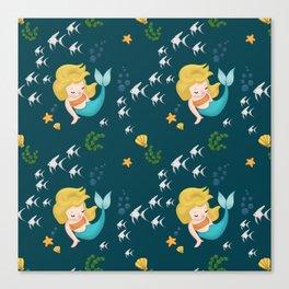 Mermaid Pattern Canvas Print