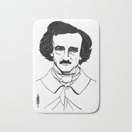 Edgar Allan Poe by Aubrey Beardsley 1926 Bath Mat