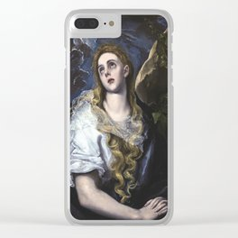 El Greco -  Mary Magdalen in Penitence Clear iPhone Case