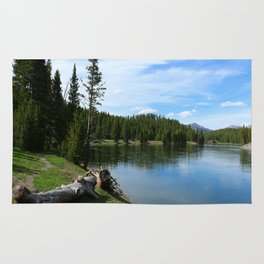 Serene Yellowstone River Rug