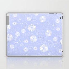 White Spirals Laptop & iPad Skin