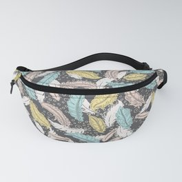 Pastel Feathers Fanny Pack