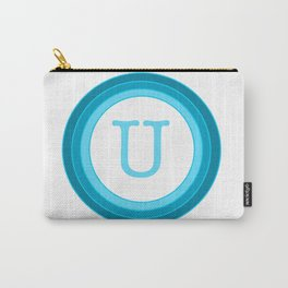 Blue letter U Carry-All Pouch