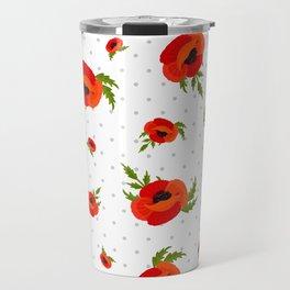 Poppy Flowers Pattern Travel Mug