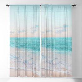 Ocean Bliss #society6 #society6artprint #buyart Sheer Curtain