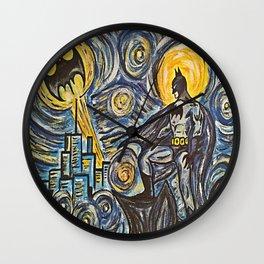 Bat Van Gogh  Wall Clock