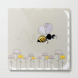 Bee Cute! Metal Print