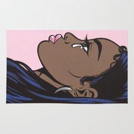 Crying Comic Black Girl Rug
