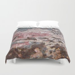 Cracking Paint and Rust Abstract Duvet Cover