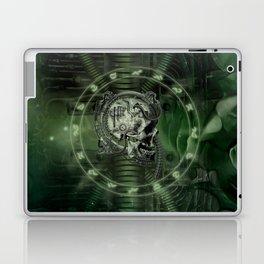 Awesome creepy mechanical skull Laptop & iPad Skin