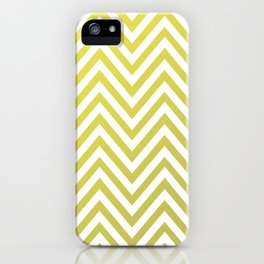 Geometric Lines Pattern Yellow / Golden iPhone Case