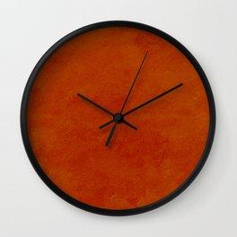 concrete orange brown copper plain texture Wall Clock