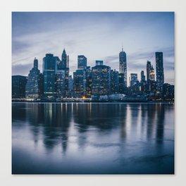 Manhattan after the sunset Canvas Print