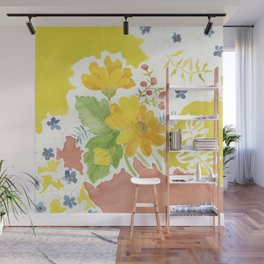 Daisy with Yellowed Green Wall Mural