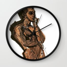 Thoughts That Require Nudity Wall Clock