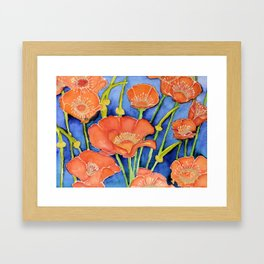 Pardon my Poppies Framed Art Print