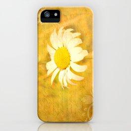 Textured Daisy iPhone Case
