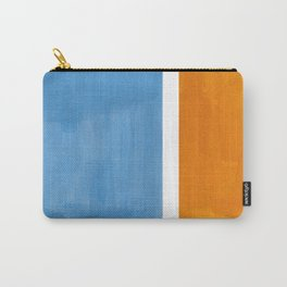 Rothko Minimalist Abstract Mid Century Color Black Square Periwinkle Yellow Ochre Carry-All Pouch