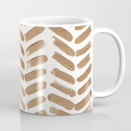 Gold Chevron Coffee Mug