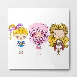 Lil Cuties - Eighties Ladies Metal Print