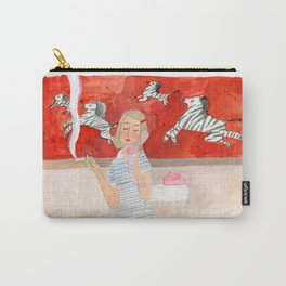 Margot in the bathroom Carry-All Pouch