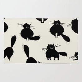 Funny big cats, seamless pattern for your design Rug