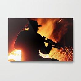 FireFight Metal Print