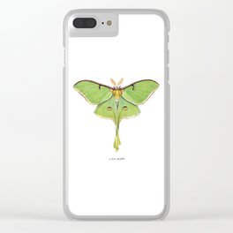 Luna Moth (Actias luna) II Clear iPhone Case