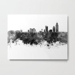 Mobile skyline in black watercolor Metal Print