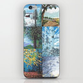 All Seasons Collage iPhone Skin
