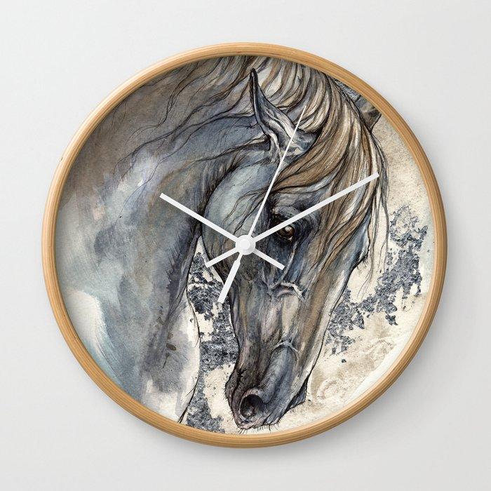 Andalusian horse Wall Clock