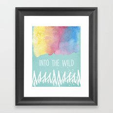 Into the Wild - Wild Heart Boho Watercolor Mountains Framed Art Print