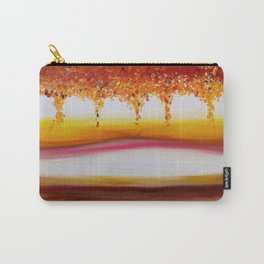 """""""Autumn"""" Original oil finger painting by Monika Toth Carry-All Pouch"""
