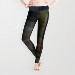 Deconstructed Abstract Scottish Plaid Pattern Leggings