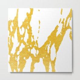 Gold Abstract II Metal Print