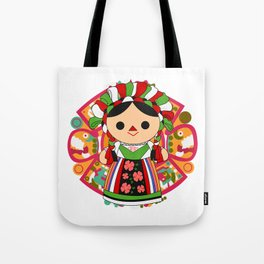 Maria 5 (Mexican Doll) Tote Bag
