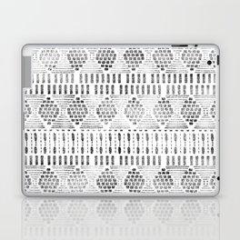 Aztec I Pattern Black and White Laptop & iPad Skin