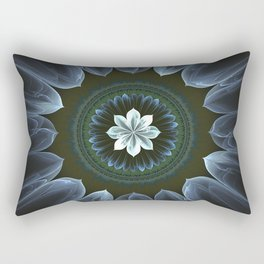 Blossom Within in White Rectangular Pillow