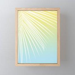 Pastel Palm 03 Framed Mini Art Print
