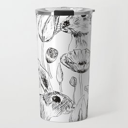 rabbits and flowers parties Travel Mug