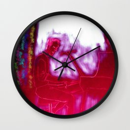 Luminous and Wired Wall Clock