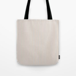 Warm Taupe Stripes Tote Bag