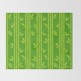 Evergreen Chinese Bamboos Throw Blanket