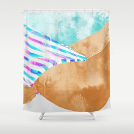 Freestyle #painting #illustration Shower Curtain