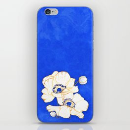 Ultramarine Blue :: Anemones iPhone Skin