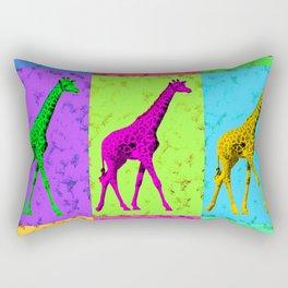 Pop Art Walking Giraffe Panels Rectangular Pillow