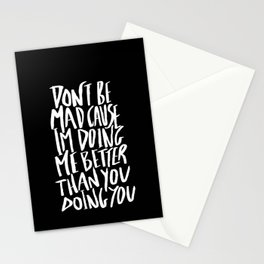 Don't Be Mad Stationery Cards