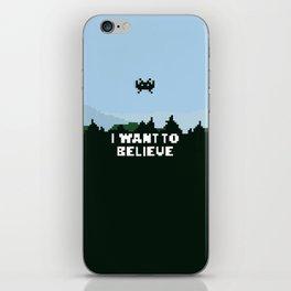 i want to believe. iPhone Skin