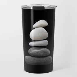 balance pebble art Travel Mug